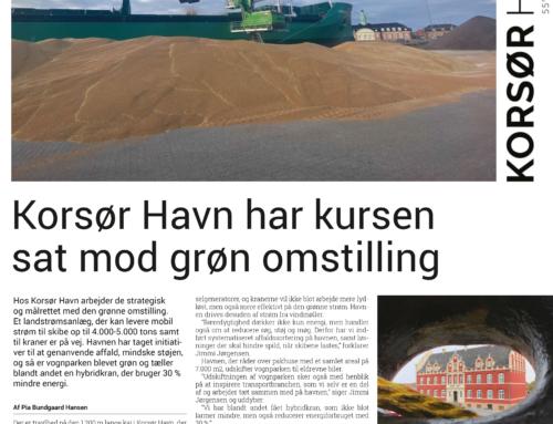 Søfart: Korsør Havn har sat kursen mod grøn omstilling